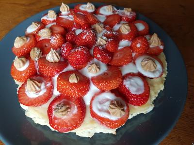 Tartes aux fraises et crème pâtissière