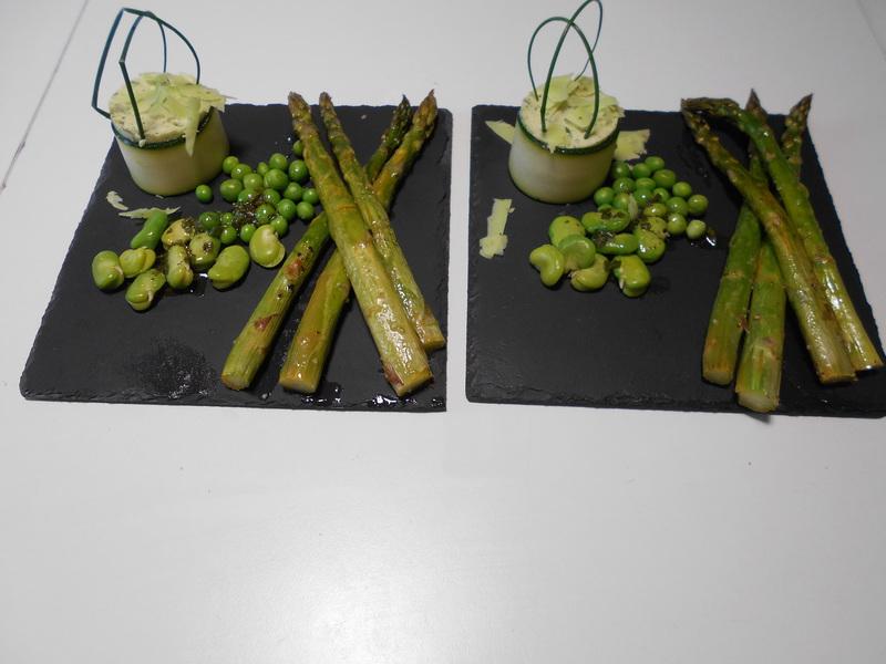 Recettes de Cuisine - Asperges vertes rôties au four par