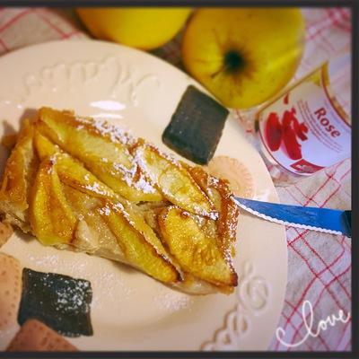 Clafoutis pomme rose