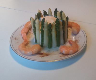 Mousse de crevettes aux asperges