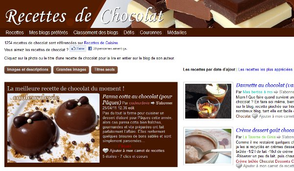 Recettes de chocolat
