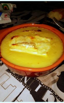 Soupe a l'oignon avec coeur de reblochon.