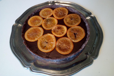Tarte chocolat gingembre oranges épices